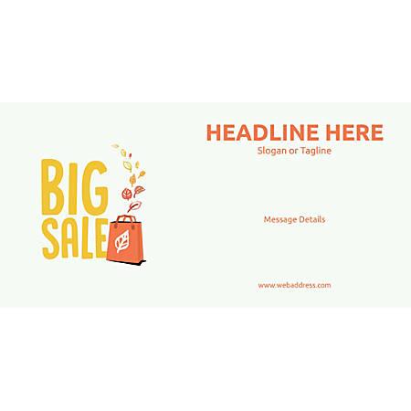 Custom Horizontal Banner, Big Sale Bag