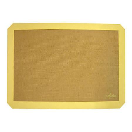 "Winco Full-Size Silicone Baking Mat, 24-1/2"" x 16-1/2"", Yellow"
