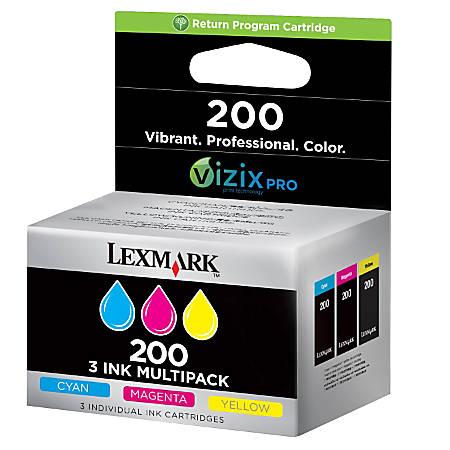 Lexmark™ 200 (14L0268) Color Ink Tanks, Pack Of 3