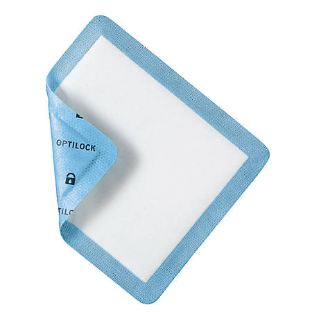 "OptiLock Nonadhesive Dressings, 5"" x 5 1/2"", Blue, Box Of 10, Case Of 10 Boxes"