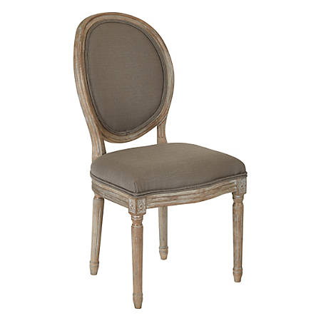 Ave Six Lillian Oval-Back Chair, Klein Otter/Light Brown