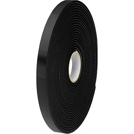 "Tape Logic® Double-Sided Foam Tape, 1"" x 36 Yd., Black, Case Of 2"
