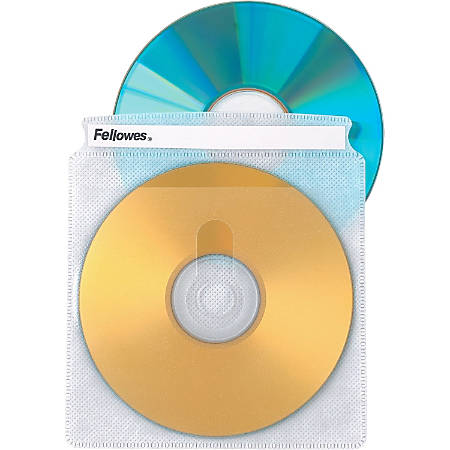 Fellowes® Double-Sided CD Sleeves, Pack Of 25
