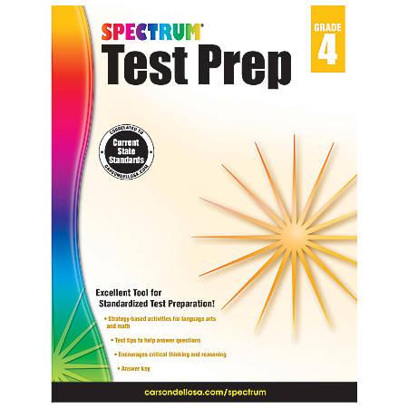 Carson-Dellosa Spectrum Test Prep Book, Grade 4