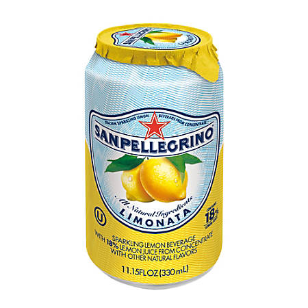SANPELLEGRINO® Italian Sparkling Fruit Beverage, 11.15 Oz, Limonata, Pack Of 12