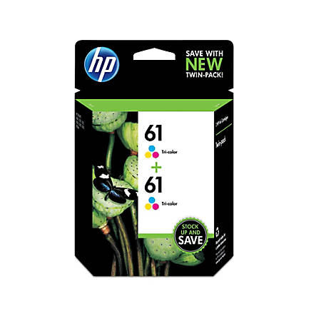 HP 61 Tri-color Original Ink Cartridges (CZ074FN), 2-Pack