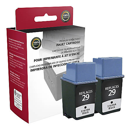 Clover Imaging Group OD29AX2 Remanufactured Ink Cartridges Replacement For HP 29 Black, Pack Of 2