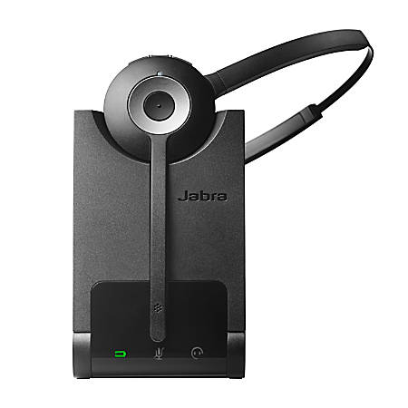 Jabra Pro 920 Mono Headset - Mono - Wireless - DECT - 120 ft - Over-the-head, Over-the-ear, Behind-the-neck - Monaural - Supra-aural - Noise Cancelling, Noise Reduction Microphone
