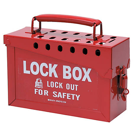 13 LOCK GROUP LOCK BOX RED