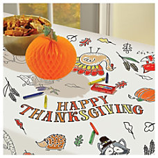 Amscan Thanksgiving Color In Paper Table