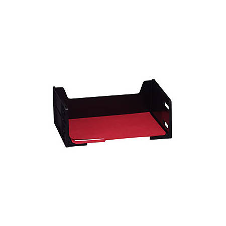 Eldon® High-Capacity Stackable® Desk Tray, Side Load, Letter, Black