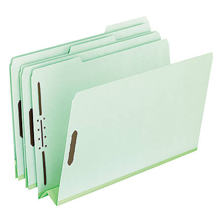 """Pendaflex® Pressboard Expanding Folders, 3"""" Expansion, 8 1/2"""" x 11"""", Letter Size, 75% Recycled, Green, Box Of 25 Folders"""