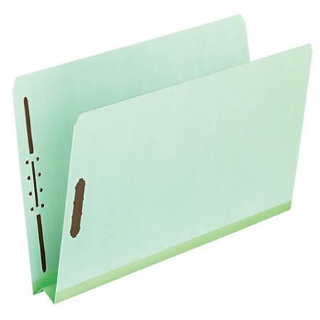 "Pendaflex® Extra Heavy-Duty Pressboard Fastener Folders, Legal Size, 2"" Expansion, Leaf Green, Pack Of 25"