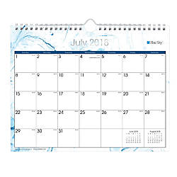 Blue Sky Monthly Wall Calendar 8