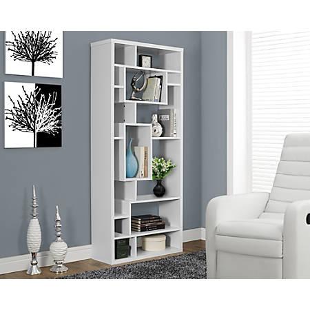 Monarch Specialties 14-Shelf Bookcase, White