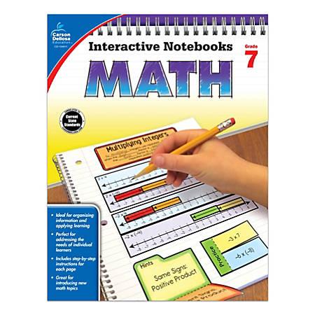Carson-Dellosa Interactive Notebook For Math, Grade 7