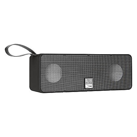 "Altec Lansing Dual Motion Bluetooth® Speaker, 2 3/8"" x 6 5/8"" x 1 3/4"", Black"