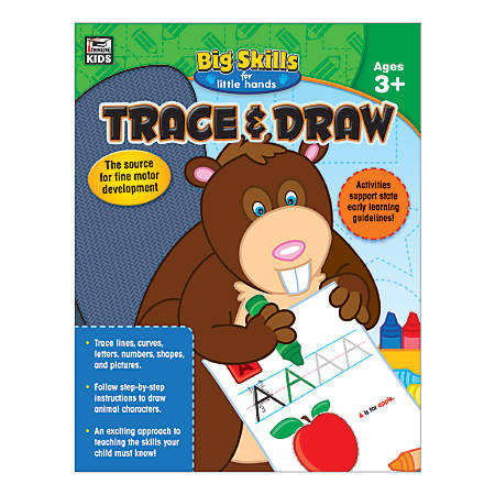Thinking Kids® Big Skills for Little Hands: Trace And Draw, Grades Pre-K - K