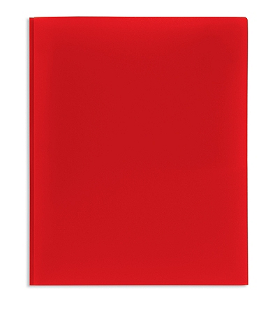 Office Depot® Brand 2-Pocket Poly Folder with Prongs, Letter Size, Red