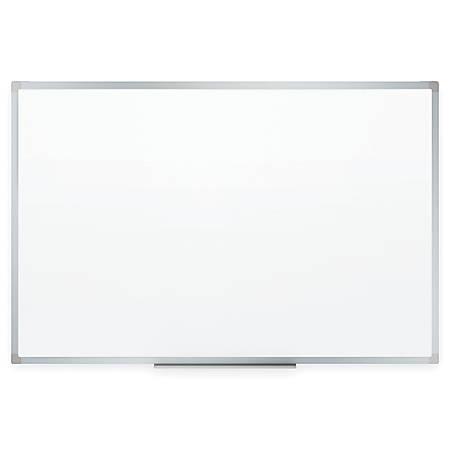 "Quartet® Melamine Dry-Erase Board, 48"" x 72"", Expanded Marker Tray, Aluminum Frame"