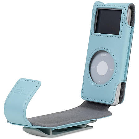 Belkin Flip Case for iPod nano - Clamshell - Leather - Blue