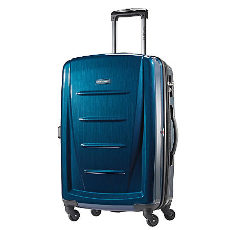 "Samsonite® Winfield 2 Polycarbonate Rolling Spinner, 24""H x 16 1/2""W x 11""D, Deep Blue"