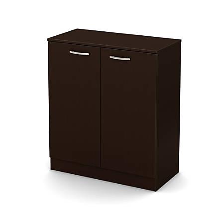 South Shore Axess 2-Door Storage Cabinet, Chocolate