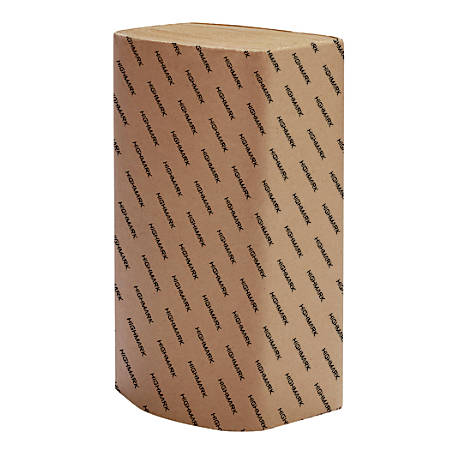 """Highmark® 100% Recycled Multifold Paper Towels, 9 1/4"""" x 9 1/4"""", Natural, 250 Towels Per Sleeve, Case Of 16 Sleeves"""