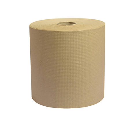 """Highmark® 100% Recycled Hardwound Roll Towels, Natural, 8"""" x 350', Case Of 12 Rolls"""