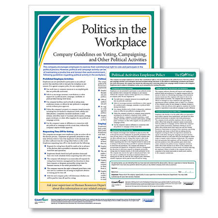 ComplyRight Politics In The Workplace Poster And Policy Kit