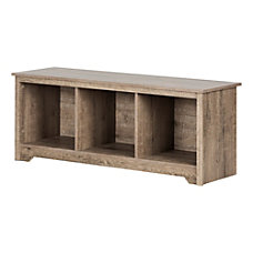 South Shore Vito Cubby Storage Bench