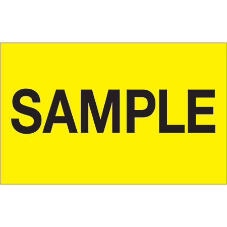 "Tape Logic® Preprinted Special Handling Labels, DL1156, Sample, Rectangle, 1 1/4"" x 2"", Fluorescent Yellow, Roll Of 500"