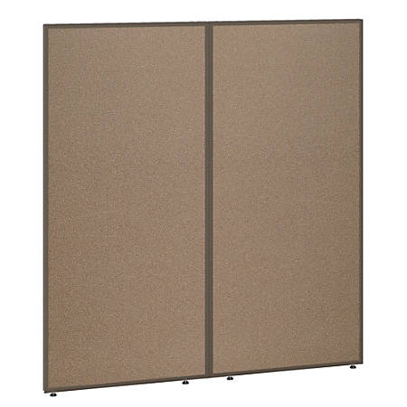 """Bush Business Furniture ProPanels 66""""H Office Partition, 60""""W, Harvest Tan/Taupe, Standard Delivery"""