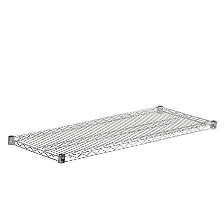 "Honey-Can-Do Plated Steel Shelf, 18"" x 42"", Chrome"