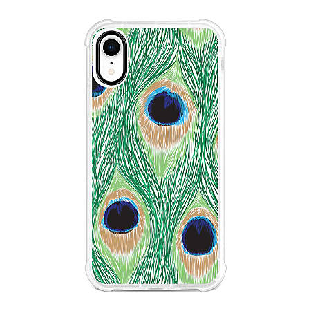 OTM Essentials Tough Edge Case For iPhone® XR, Peacock Feathers, OP-YP-Z128A