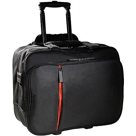 "ECO STYLE Luxe ELUX-RC14 Carrying Case for 15.6"" Notebook - Black, Orange - Ethylene Vinyl Acetate (EVA), Twill Interior - 13"" Height x 16.5"" Width x 7"" Depth"