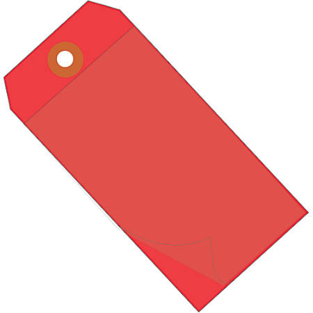 """Office Depot® Brand Self-Laminating Tags, 4 3/4"""" x 2 3/8"""", 95% Recycled, Red, Case Of 100"""