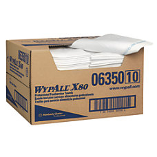 Wypall X80 Foodservice Towels Quarter fold