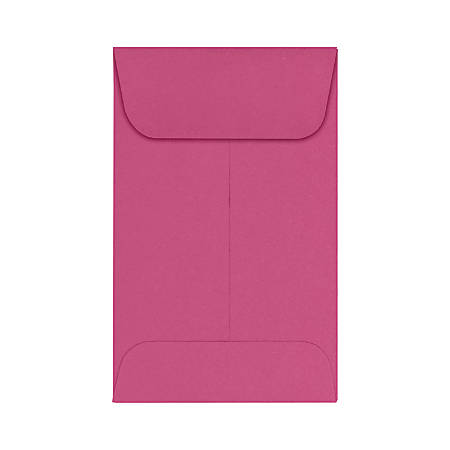 """LUX Coin Envelopes, #1, 2 1/4"""" x 3 1/2"""", Magenta, Pack Of 500"""