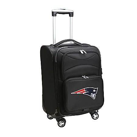 """Denco ABS Upright Rolling Carry-On Luggage, 21""""H x 13""""W x 9""""D, New England Patriots, Black"""