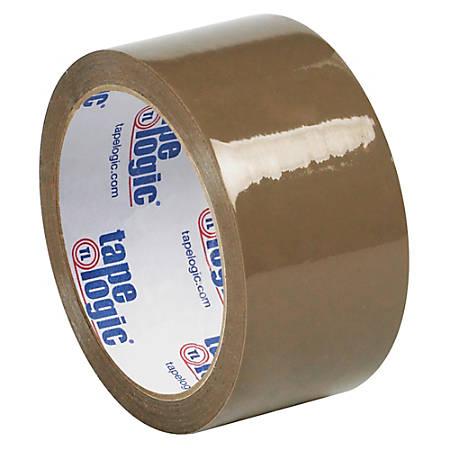 "Tape Logic® #53 PVC Natural Rubber Tape, 3"" Core, 2"" x 55 Yd., Tan, Case Of 6"