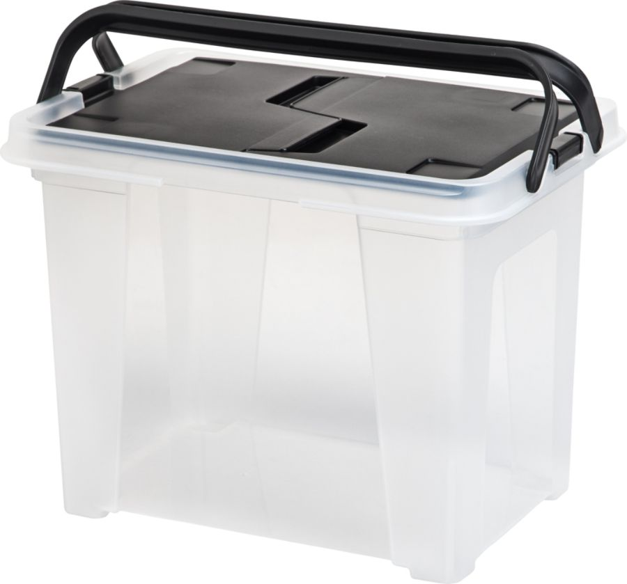 Office Depot Brand Mobile File Box Letter Size BlackClear by Office
