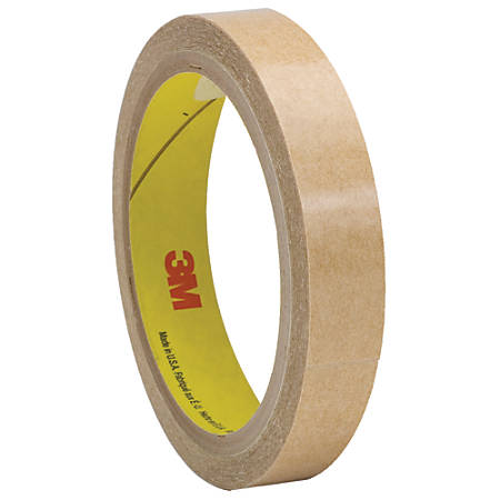 """3M™ 927 Adhesive Transfer Tape Hand Rolls, 3"""" Core, 0.5"""" x 60 Yd., Clear, Case Of 6"""