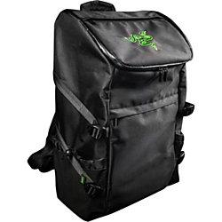 "Razer Utility Carrying Case (Backpack) for 17"" Notebook - Black - Water Resistant, Scratch Proof Exterior, Tear Proof Exterior, Scratch Proof Interior, Debris Resistant - 1680D Ballistic Nylon - Shoulder Strap, Chest Strap"