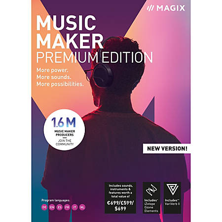 MAGIX Music Maker Premium Edition, Download Version