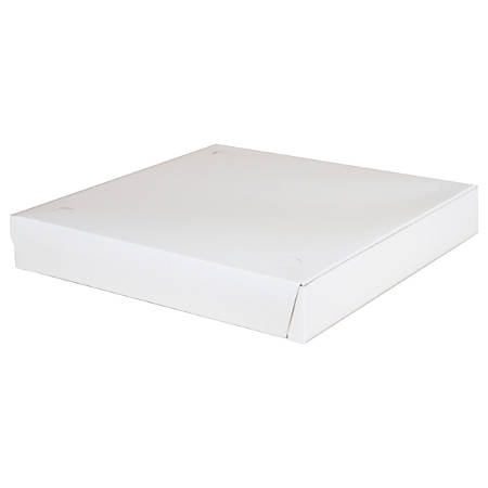 "SCT® Lock-Corner Pizza Boxes, 1 7/8""H x 12""W x 12""D, White, Carton Of 100 Boxes"