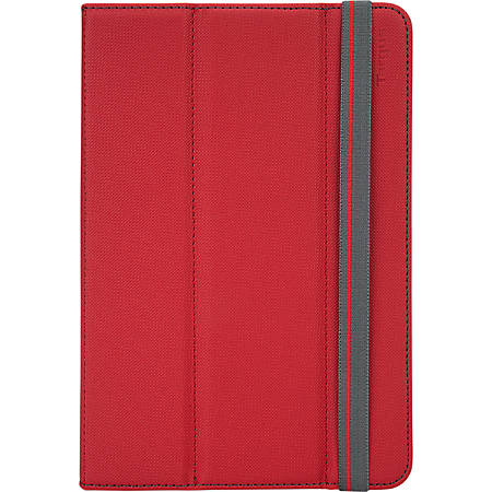 """Targus® Universal Fit N' Grip 360° Case, For 7""""-8"""" Tablets, Red"""