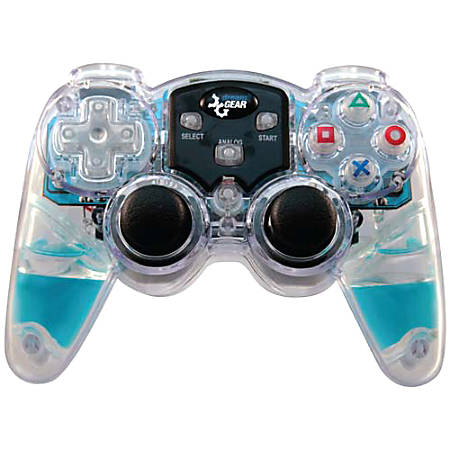 PS2 dreamGEAR Lava Glow Wireless Controller, Blue