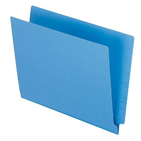 """Pendaflex® Color Straight-Cut End-Tab Folders, 8 1/2"""" x 11"""", Letter Size, Blue, Pack Of 100"""