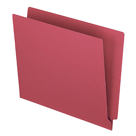 """Pendaflex® Color Straight-Cut End-Tab Folders, 8 1/2"""" x 11"""", Letter Size, Red, Pack Of 100"""